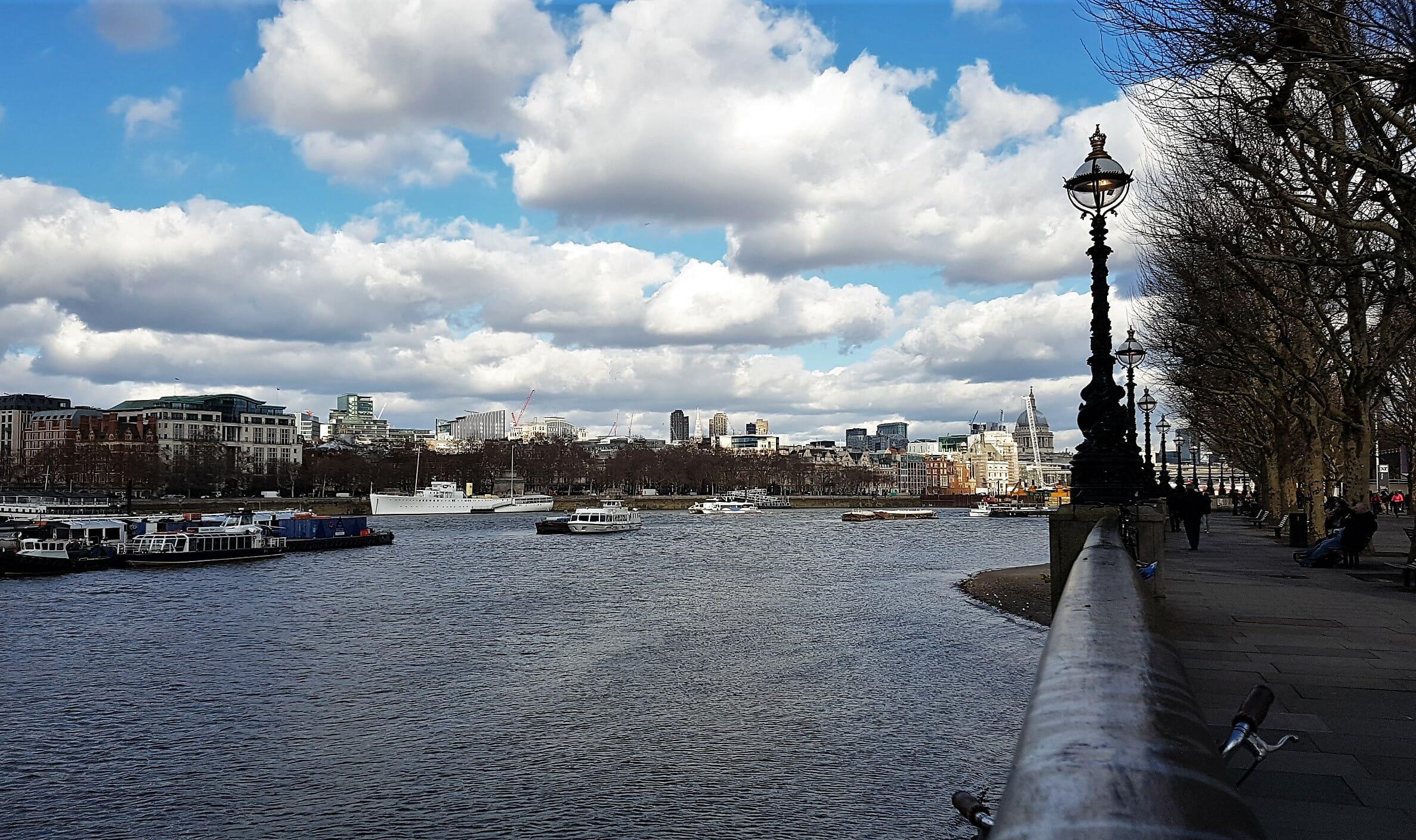 Londra passeggiare su South Bank
