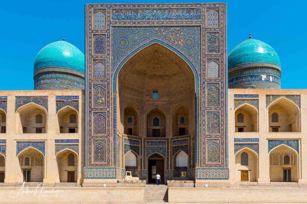 Facciata, Madrasa Mir-i Arab, Bukhara, Uzbekistan